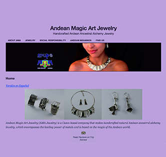 Andean Magic Art Jewelry homepage