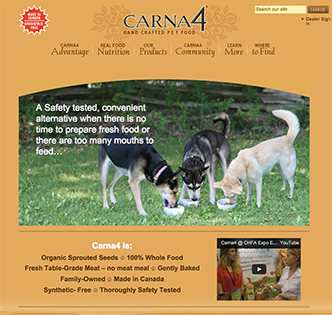 Carna4 website home page