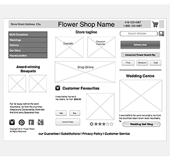 Flower Shop Wireframe